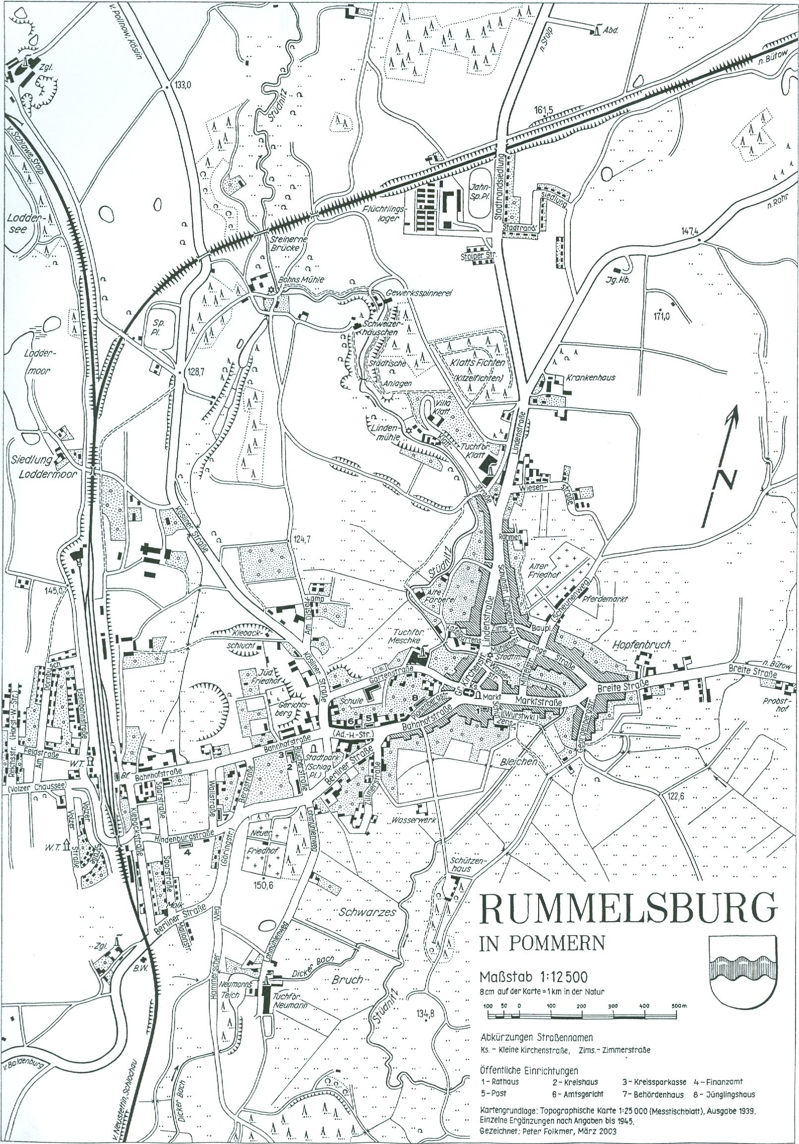 Pommern Karte Vor 1945.Heimatkreis Rummelsburg I Pom Karten